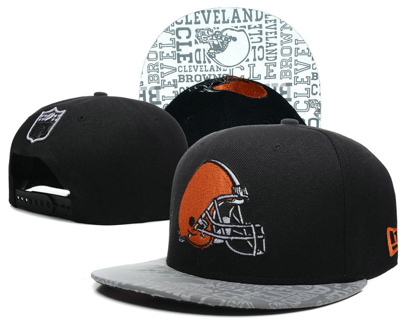 Cleveland Browns 2014 Draft Reflective Black Snapback Hat SD 0613